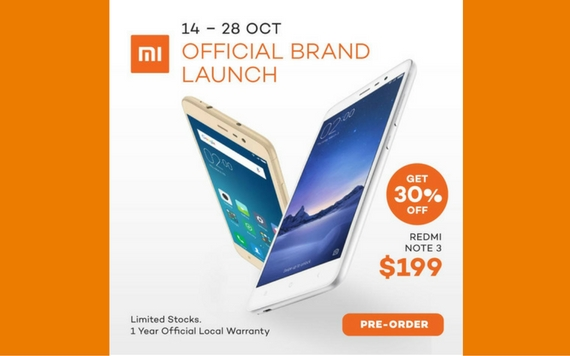 Lazada Official Brand Launch Xiaomi, Get 30% OFF Limited Stocks