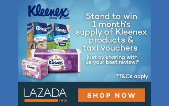 Lazada Kleenex, Win 1 Month Kleenex Products & Taxi Vouchers...