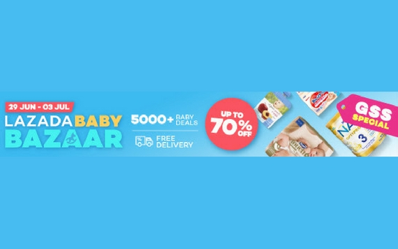 Lazada Baby Bazaar Up To 70% OF & Free Delivery...