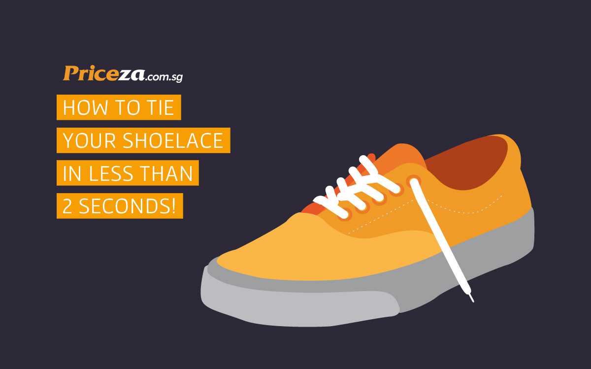 how to tie your shoelace in less than 2 seconds